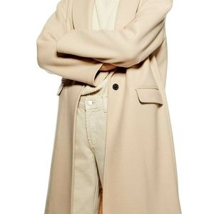 Brand New W/Tags Topshop Lily Coat in Camel S6